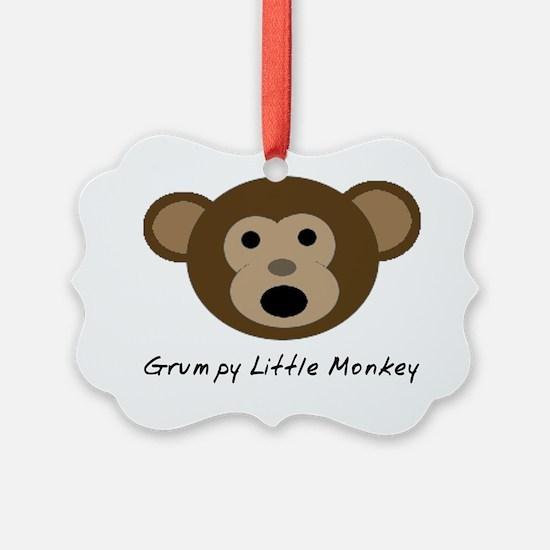 Grumpy Little Monkey Ornament
