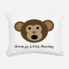 Grumpy Little Monkey Rectangular Canvas Pillow