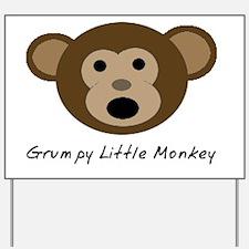 Grumpy Little Monkey Yard Sign