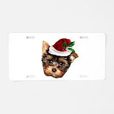 Christmas Yorkshire Terrier dog Aluminum License P