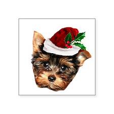 Christmas Yorkshire Terrier dog Sticker