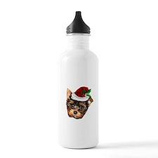 Christmas Yorkshire Terrier dog Water Bottle