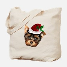 Christmas Yorkshire Terrier dog Tote Bag