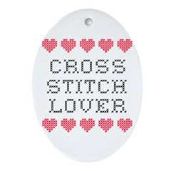 Cross Stitch Lover Oval Ornament