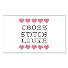 Cross Stitch Lover Rectangle Decal