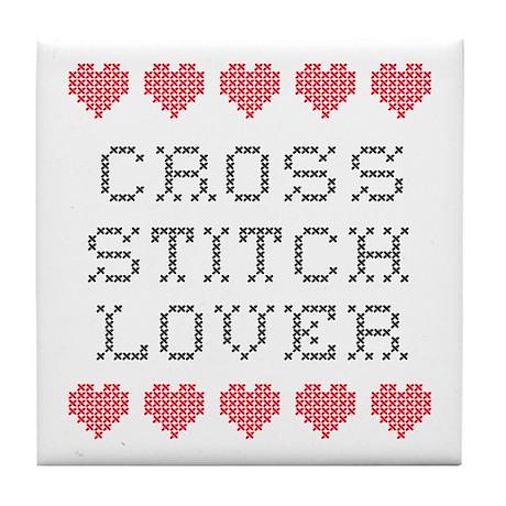 Cross Stitch Lover Tile Coaster