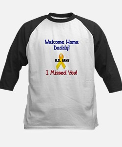 Welcome Home Daddy Kids Baseball Jersey