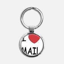 I heart mail Round Keychain