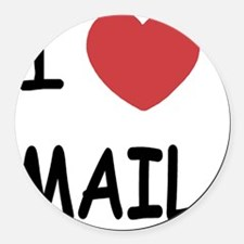 I heart mail Round Car Magnet