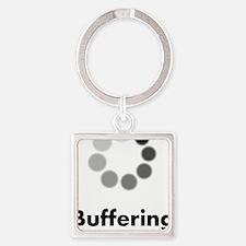 Buffering Square Keychain