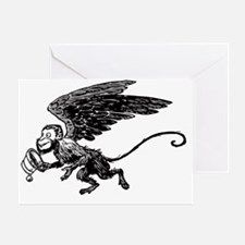 Winged Monkey Greeting Card