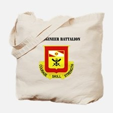 DUI - 5th Engineer Battalion with Text Tote Bag