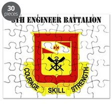 DUI - 5th Engineer Battalion with Text Puzzle