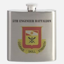 DUI - 5th Engineer Battalion with Text Flask