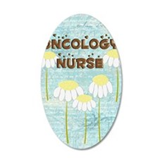 Oncology Nurse Daisies Elect 35x21 Oval Wall Decal