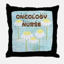Oncology Nurse Daisies Electronics Throw Pillow