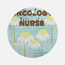 Oncology Nurse Daisies Electronics Round Ornament
