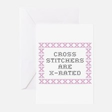 Cross Stitchers are X rated Greeting Cards (Packag