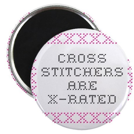 Cross Stitchers are X rated Magnet