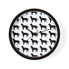 Labrador Retriever Silhouette Flip Flop Wall Clock