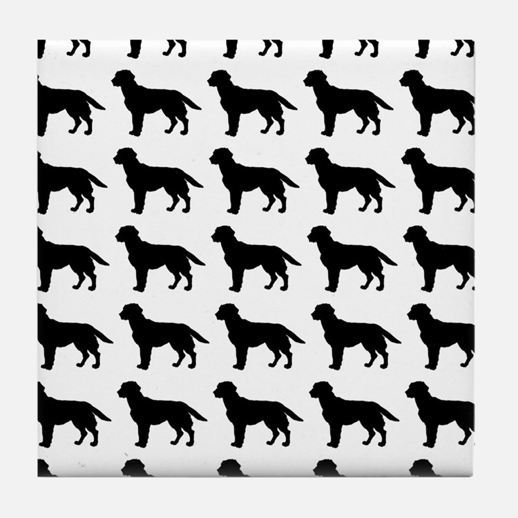 Labrador Retriever Silhouette Flip Fl Tile Coaster