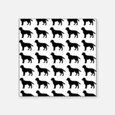 "Labrador Retriever Silhouet Square Sticker 3"" x 3"""