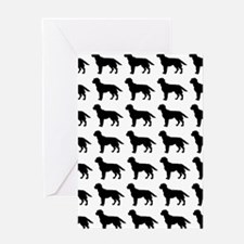 Labrador Retriever Silhouette Flip F Greeting Card