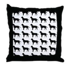 Labrador Retriever Silhouette Flip Fl Throw Pillow