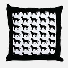 Labrador Retriever Silhouette Flip Fl Throw Pillow