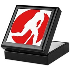 female hockey player Keepsake Box