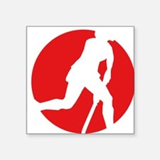 "female hockey player Square Sticker 3"" x 3"""