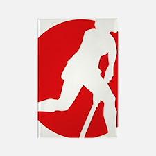 female hockey player Rectangle Magnet