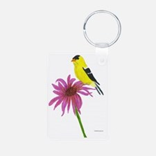 American Goldfinch Aluminum Photo Keychain