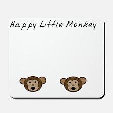 Happy Little Monkey Mousepad