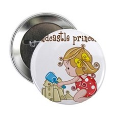 "Sandcastle Princess 2.25"" Button"