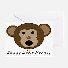 Happy Little Monkey Greeting Card