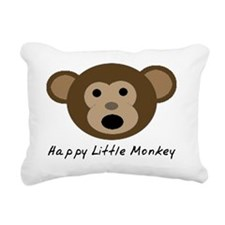 Happy Little Monkey Rectangular Canvas Pillow