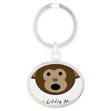 Happy Little Monkey Oval Keychain