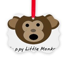 Happy Little Monkey Ornament