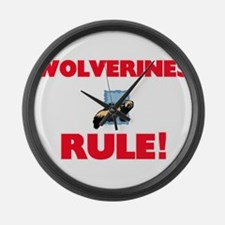 Wolverines Rule! Large Wall Clock