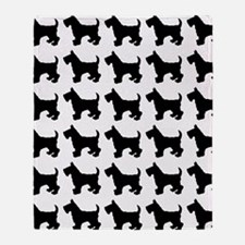 Scottish Terrier Silhouette Flip Flo Throw Blanket