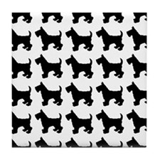 Scottish Terrier Silhouette Flip Flop Tile Coaster
