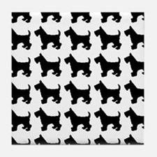 Scottish Terrier Silhouette Flip Flop Tile Coaster