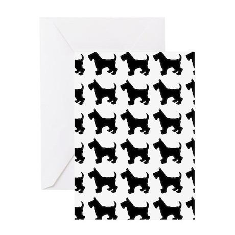 Scottish Terrier Silhouette Flip Flo Greeting Card