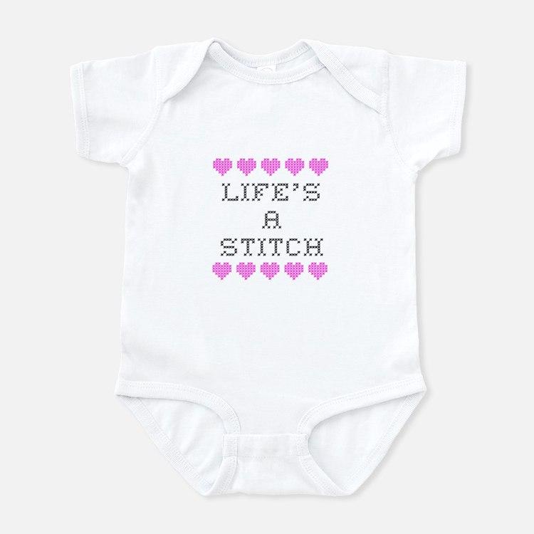 Life's a Stitch - Cross Stitch Infant Bodysuit