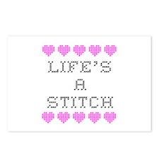 Life's a Stitch - Cross Stitch Postcards (Package