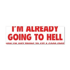 alreadyHell1D Car Magnet 10 x 3