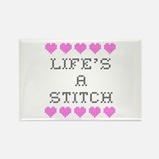 Life's a Stitch - Cross Stitch Rectangle Magnet