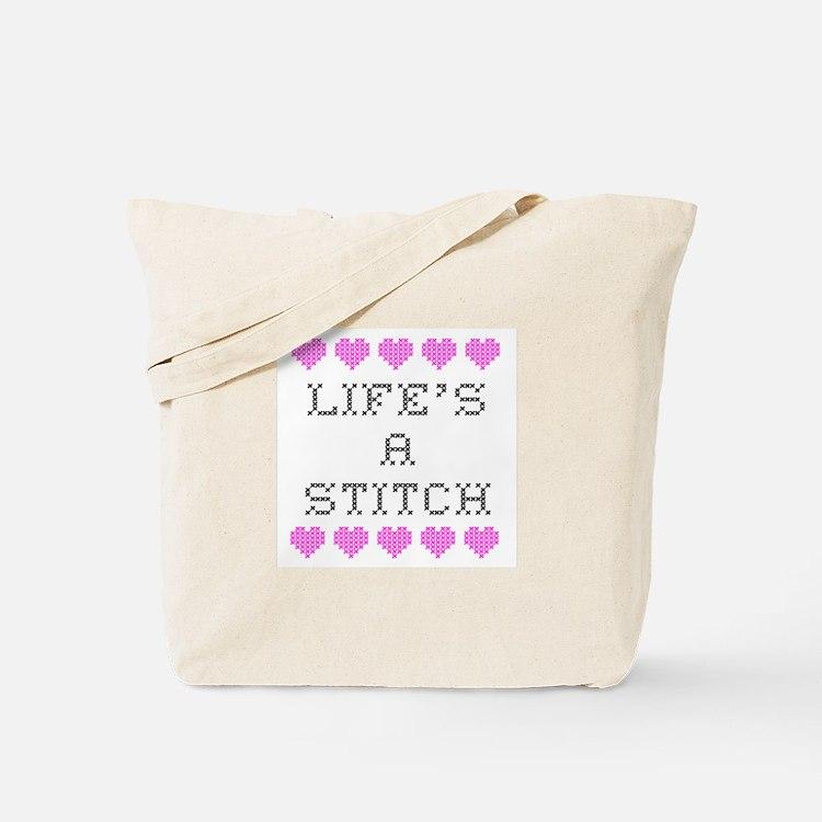 Life's a Stitch - Cross Stitch Tote Bag