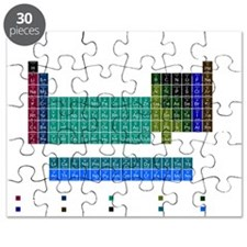 Blue Periodic Table Puzzle
